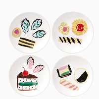 one smart cookie set of 4 tidbits plates | Kate Spade New York