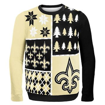 New Orleans Saints - Busy Block Ugly Christmas Sweater