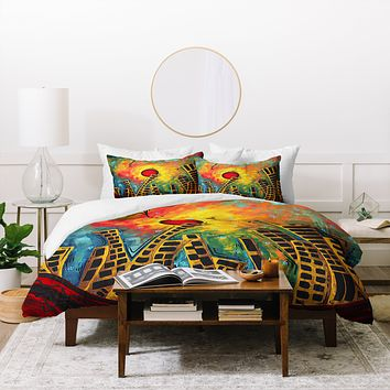 Madart Inc. Glimmer Of Hope Duvet Cover