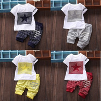 Baby Boy Kid Short Sleeve STAR Sportswear Clothes T-shirt Top Short Pants Outfit = 5618637633