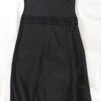 "~~~ YOU VIXEN ~~~ ANTONIO BERARDI BLACK ""KNIT TRIM/FRONT SLIT"" SHEATH DRESS ~ 40"