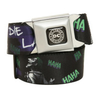 DC Comics The Joker Die Laughing Seat Belt Belt