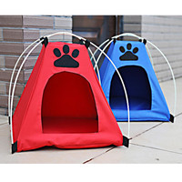 New Oxford Pets Dog Cat Tents Portable Folding Waterproof Outdoor Travel Home Pet House Bed Kennel Cage Anti-catch (Red, Blue)