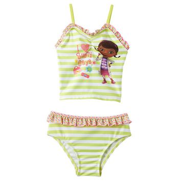 Disney's Doc McStuffins Striped 2-pc. Tankini Swimsuit Set - Toddler