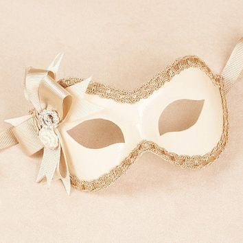 Verona Ivory/Bronze masquerade mask /req37430 by partymask on Etsy