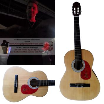Brett Young Autographed Full Size 39 Inch Country Music Acoustic Guitar, Proof Photo