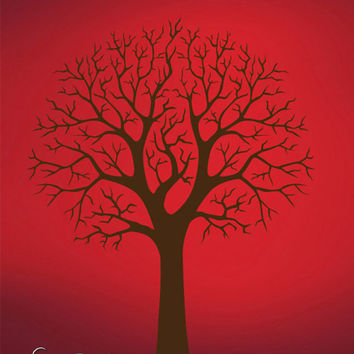 Vinyl Wall Decal Sticker Bare Tree ll #741