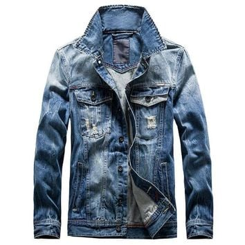 New Arrivals Retro Classics Denim Jacket Men Vintage Clothes Casual Slim Jackets Men's Coat Jeans Jackets Plus Size M-3XL C1067