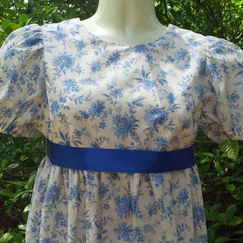 Girls Regency Jane Austen Dress Size 14, Ready to Ship