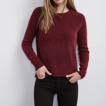 ZULY BOUCLE HIGH/LOW SWEATER