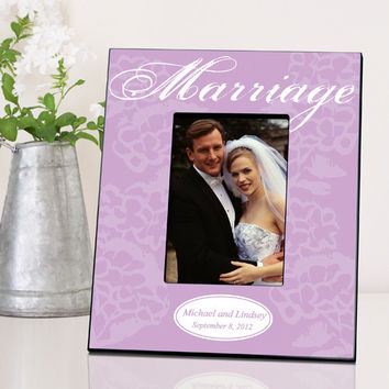Couple's Frame - Marriage - White & Lavender