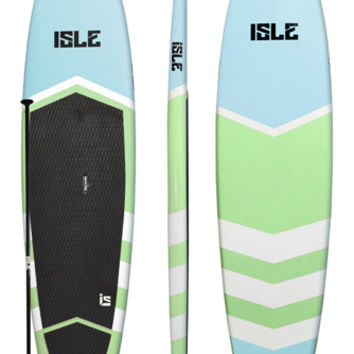 11'0 Isle Glider Flat Water Stand Up Paddle Board - Light Blue/Mint