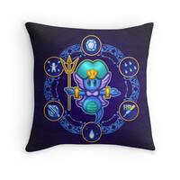 'Undine ' Throw Pillow by likelikes
