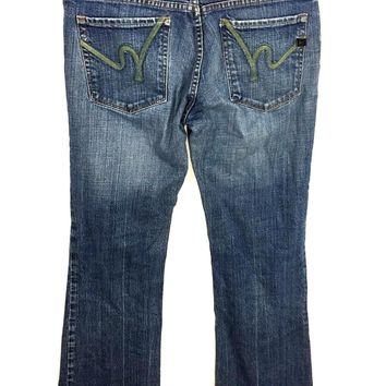Citizens Of Humanity Jeans Kelly #085 Low Waist Boot Cut Stretch Womens 31 x 31 - Preowned