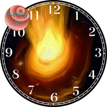 """Black Hole Outer Space Painting Art - -DIY Digital Collage - 12.5"""" DIA for 12"""" Clock Face Art - Crafts Projects"""