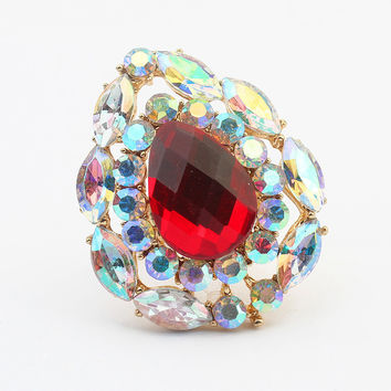 Jewelry Stylish Gift New Arrival Shiny Fashion Vintage Water Droplets Gemstone Accessory Ring [4918799556]