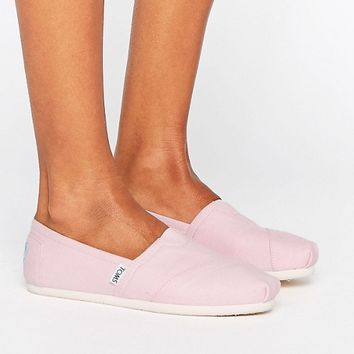 TOMS Classic Pink Icing Flat Shoes at asos.com