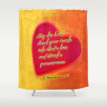 Direct Your Hearts Shower Curtain by Peter Gross