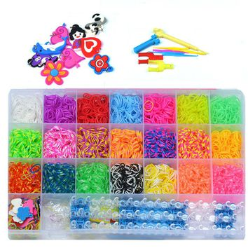 Rubber Bands To Weave Bracelet Charm For Plaiting Hair Accessories Machine Set