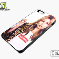 Kate Moss Supreme Leopard iPhone 5s Case Cover by Avallen