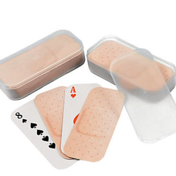 Band-aid Shaped Playing Cards