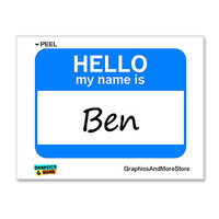 Ben Hello My Name Is Sticker