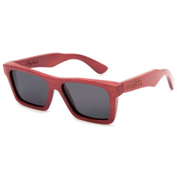 Swell Classic Bamboo Polarized Sunglasses Red Combo One Size For Men 26419734901