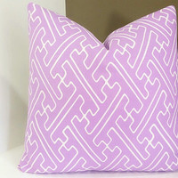 Quadrille, Saya Gata Lavender China Seas, Alan Campbell, Home Couture Pillow Cover - 20x20