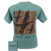 Southern Limits Lock Em Up Duck Bird Comfort Colors Unisex T-Shirt