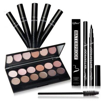 LMF57D Professional Beauty Hot Makeup Set Eye shadow Palette Eyelashes Brush Mascara Eyeliner Pen