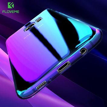 FLOVEME For Samsung S8 Case Galaxy S8 Plus S7 S6 Edge Aurora Phone Cases For Samsung S8 Galaxy A3 A5 2017 2016 Blue Light Cover