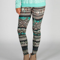 Full Tilt Ethnic Arrow Leggings Multi  In Sizes