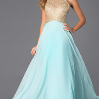Blush Exclusive Lace Bodice Evening Gown