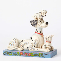 """Disney Jim Shore Traditions Pongo with Penny and Rol """" Puppy Love """" New Box"""