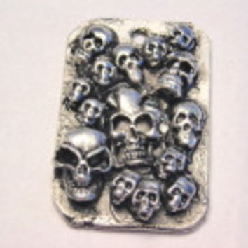 Day Of The Dead Dog Tags Pendant Genuine American Pewter Charm
