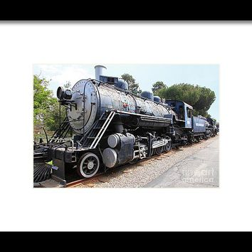 Vintage Steam Locomotive 5d29142 Framed Print