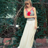 White Jersey Maxi Skirt Doubles as a Perfect Summer by LanaStepul