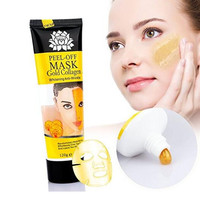 Women 24k Gold Collagen Peel-off Facial Mask Whitening Anti-Wrinkle Face Masks Skin Care Face Lifting Firming Moisturize 4.22 Fl.oz