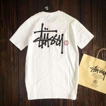 ESBONV Stussy Women With Men Fashion Cartoon Print Casual Blouse Tee Top G-A-GHSY-1