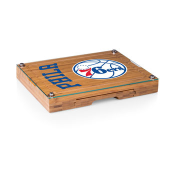Philadelphia 76ers - 'Concerto' Glass Top Cheese Board & Tools Set by Picnic Time