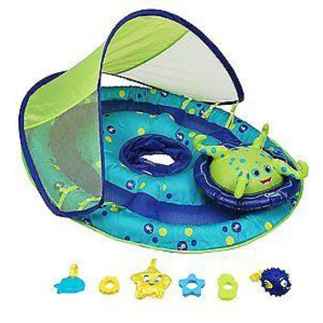 SwimWays Baby Spring Float Activity Center with Canopy for Water USA NEW