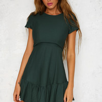 Make Me Proud Dress Forest Green