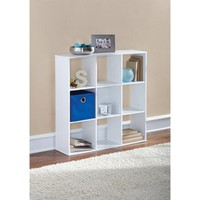 Mainstays Organizer Bookcase, Soft White Finish - Walmart.com