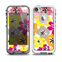 The Bright Summer Brushed Flowers Skin for the iPhone 5-5s Fre LifeProof Case