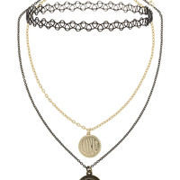 Mood Stone, Charm and Tattoo Choker Triple Pack - Topshop