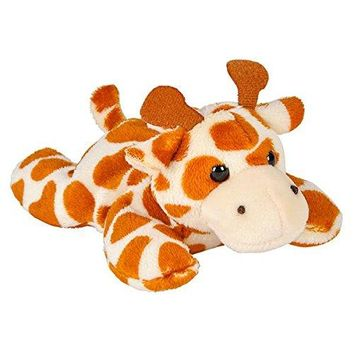 Wildlife Tree 3.5 Inch Giraffe Mini Small Stuffed Animals Bulk Bundle of Zoo Animal Toys or Jungle Safari Party Favors for Kids Pack of 12