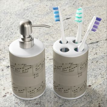 Moonlight Sonata Soap Dispenser And Toothbrush Holder