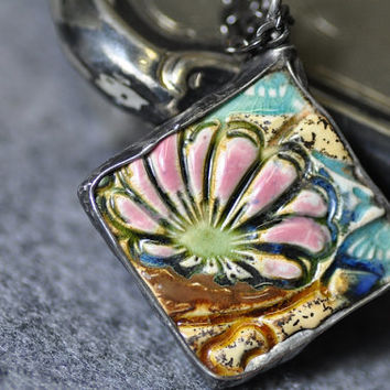 jewelry author, necklace, double-sided necklace, long necklace, ceramic, gift for her, zolanna, multicolored necklace