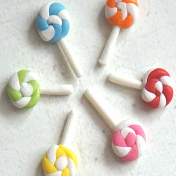 Lollipop Swirl Stud Earrings