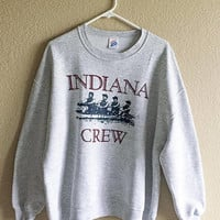 Indiana Crew Sweatshirt, Indiana University Boat Crew Sweatshirt, Indiana Rowing Sweatshirt,  Indiana Men's Boat Crew Sweatshirt